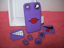 GRIFFIN FACES Purple with eyes & lips,iPod TOUCH 4TH GEN Case 8GB 32GB 64GB New!