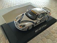 PORSCHE OFFICIAL PROMOTIONAL 911 996 GT3 CUP RACECAR 1:43rd MINICHAMPS 1998 NIB