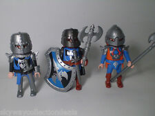 PLAYMOBIL -FIGURES,MEDIEVAL CASTLE -3 DUEL KNIGHTS,SOLDIERS! Excellent Condition