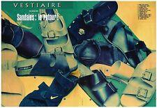 PUBLICITE ADVERTISING   1993    VESTIAIRE   SANDALES : le retour (2 pages)