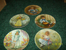 Set of 5 Collectors Plates Bo Peep Horner Mary Ms Muffet Little Boy Blue