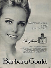 PUBLICITE ADVERTISING 094 1963 BARBARA GOULD pour les peaux sèches