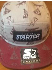 Starter Grey and burgundy  Baseball Cap -  Coyote - BNWT) OSFM