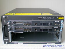 Cisco Switch Bundle WS-C6504-E +2 x VS-S720-10G Redundante SE Fan Tray  2x PSU