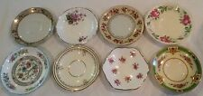 Vintage Shabby Chic Mismatch Set Of (8) Eclectic China Saucer Plates