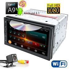 """Android 2DIN In Dash Car DVD Player Stereo Radio 7"""" GPS NAV Tablet WiFi + Camera"""