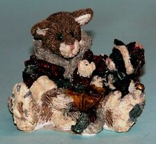 """Boyds Bears """"Cookie The Santa Cat"""" # 2237, NIB 1994 gift giving Christmas mouse"""