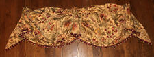 Waverly Imperial Dress Valance Lined 51 x 20 Pom Pom Fringe Swag Antique L2