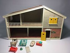 Caroline's Home Toy Dollhouse with Furniture Vintage
