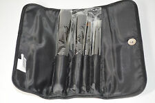 NEW Victoria's Secret Fashion Show 2012 Black Cosmetic Makeup Bag 4 Brushes