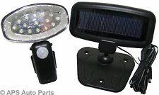 15 LED Solar Power Rehcargeable Pir Motion Sensor Security Garden Shed Light New