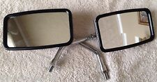 YAMAHA Early Chrome Mirrors, Domed Back, Right Side Reverse Thread A-035
