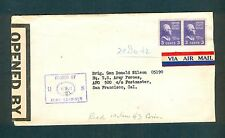 1942 Censored Cover to 5th AF Brig General Donald Wilson, HQ US ARMY, APO #500