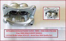 Se adapta a Mitsubishi pajero/shogun 3.2 ¿ swb/lwb Freno Delantero Caliper R/h (2000-2006)