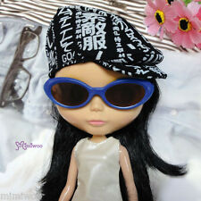 """Mimi Collection 12"""" Neo Blythe Doll Plastic Blue Frame Glasses Brown Lens"""