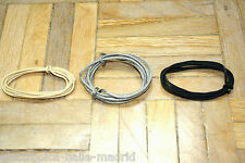 3 mt BLACK & WHITE & VINTAGE SILVER BRAIDED WIRE FOR GIBSON EPIPHONE GUITAR