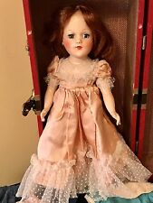 """Original Mary Hoyer Doll 14"""" L in Trunk with Clothes Stringing Tight Hair TLC"""