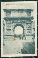 Benevento Città Arco Traiano ANGOLINO SCOLLATO cartolina XB1422