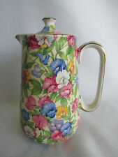 Royal Winton Grimwades Sweet Pea Chintz Chocolate Pot Coffee Tea Pot Rare