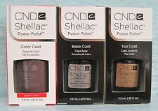 CND Shellac UV LED Gel Power Polish 3-pc Set RUBBLE, BASE & TOP COAT Authentic