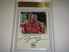 1998-99 UD Encore Authentic MICHAEL JORDAN AUTO /50 BGS 9.5 AUTO 10 ( ALL 9.5+ )