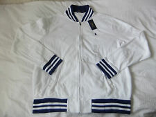 POLO Ralph Lauren whiteterry Panno Baseball Giacca Taglia L > blu a righe > Estate Top