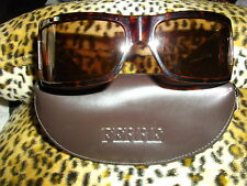 NEW GENUINE * FERRE * BROWN, WRAP ROUND,LOGO 'F' SIDE DETAIL SUNGLASSES