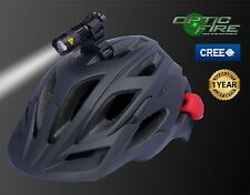 Opticfire CREE Micro ZOOM-Q5 LED bike lights cycle helmet mount torch light set