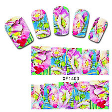 Nail Art Water Decals Transfer Sticker Colorful Painting Style Manicure XF1403