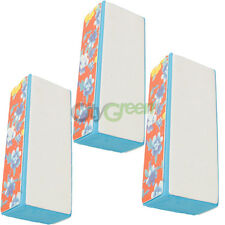 3 Pcs 4-ways Nail Buffer Polishing Sponge Block Sanding Files
