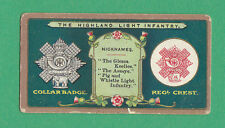 STEPHEN MITCHELL & SON - RARE MILITARY CARD - HIGHLAND LIGHT INFANTRY  -  1900