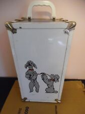 cute vintage doll trunk w/ gray poodles on front