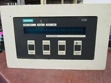 Siemens 4700 Operator Power Monitor Panel 4700-DRC3-11HN Software: 2.1.0.1 Used