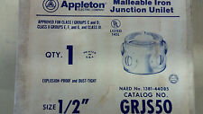 """APPLETON GRJS50 NEW IN BOX MALLEABLE JUNCTION BOX """"X"""" 1/2"""" SEE PICS #B31"""