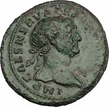 "TRAJAN 98AD RARE She Wolf ""Mother"" to Romulus & Remus Ancient Roman Coin i51162"