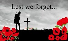 Lest We Forget 5'x3' Flag WW1 WW2 World War Remembrance Day Poppy