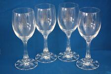 CRISTAL D' FLANDRE CRYSTAL WINE GLASSES SET OF 4