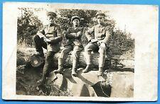 CPA PHOTO: Soldat et officier allemands / Guerre 14-18