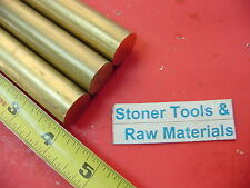 """3 pieces 7/8"""" C360 BRASS SOLID ROUND ROD 4"""" long New Lathe Bar Stock .875"""" H02"""
