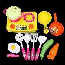 Plastic Child Kids Chef Kitchen Cookware Food Play Spoon Pan Pot Toy Set HOT-S
