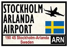 STREET / ROAD SIGNS (STOCKHOLM) - SOUVENIR NOVELTY FRIDGE MAGNET - GIFTS - NEW