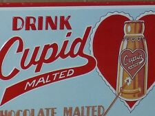 CUPID - Chocolate Dairy Drink -Country Store Gas Station- Old TIN SIGN dated '91