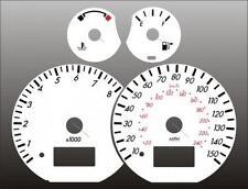 1999-2003 Mercury Cougar Dash Cluster White Face Gauges 99-03
