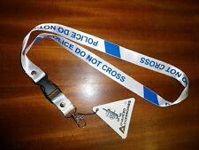 NEW POLICE LINE NECK STRAP LANYARD I.D TAG,PASS,PHONE, MP4 do not cross FREEPOST