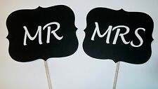 DIY- YOU GLUE- Mr and Mrs Photo Booth Props Weddings Marriage (2062D)