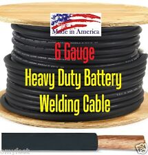 6 gauge black welding cable fine stranded copper 6 Ga alternator to battery wire