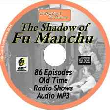 The Shadow Of Fu Manchu OTR - 86 Old Time Radio Shows - Audio MP3 CD
