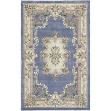 Rugs America New Aubusson 2' x 4' Rug in Light Blue