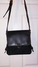 RELIC Ladies Handbag Single Shoulder Strap Black Canvas w/Vinyl Trim