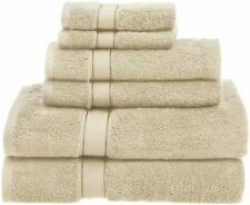725 Gram 100 % Egyptian Cotton 6 Piece Cream Bath Hand Washcloths Towel Set